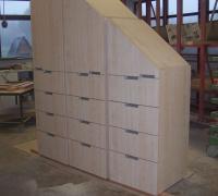 Garderobenschrank in Ahorn-Dekor, für Dachschräge